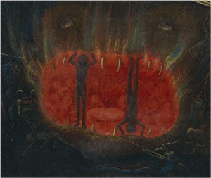 The mouth of Hell in the Visions of Tondal manuscript