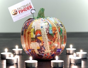 Illuminated pumpkin - a pumpkin decorated with illuminated manuscript