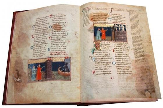Dante Poggiali, ms Pal. 313, Biblioteca Nazionale in Florence, illuminated by Pacino di Bonaguida