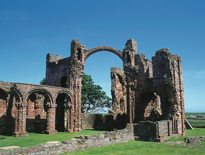 Ruins of the Lindisfarne monastery.