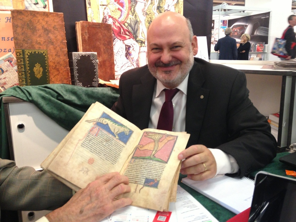 The publisher at Siloé shows the Westminster Abbey Bestiary facsimile.