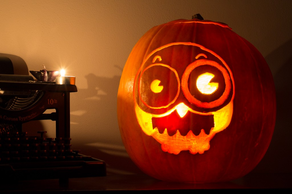 Carved pumpkin for Halloween: end result