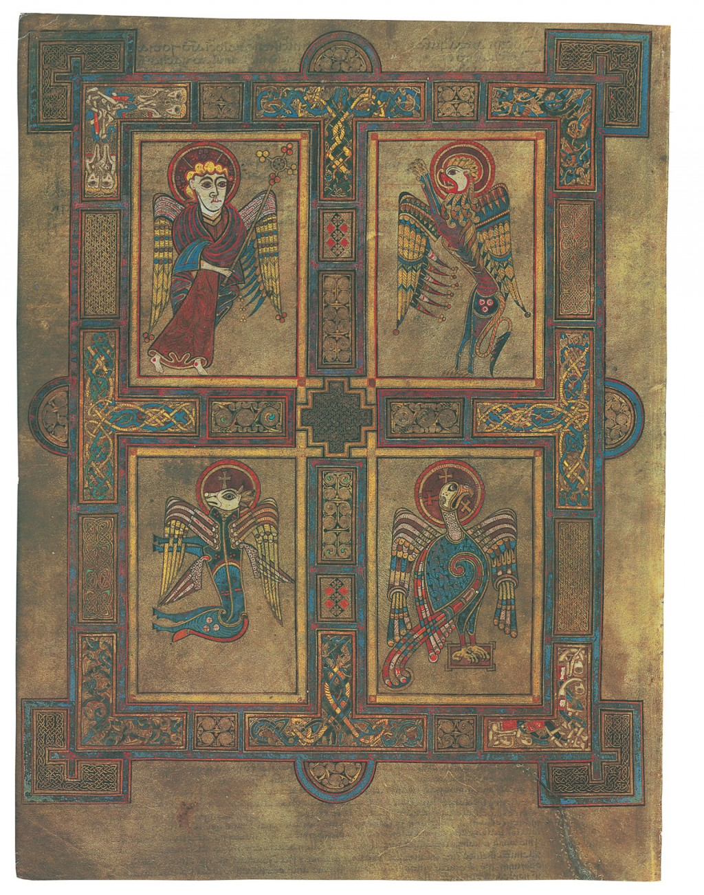 Illuminated page from The Book of Kells