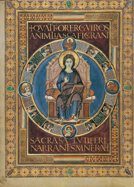 The Maiestas Domini from the Lorsch Gospels