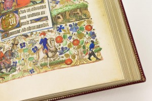 Book of Hours of Marguerite d'Orléans, facsimile edition: everyday's scenes depicted in the borders