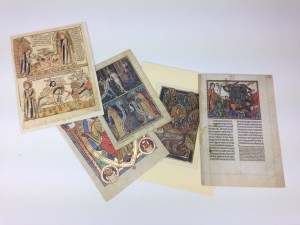 medieval facsimile pages
