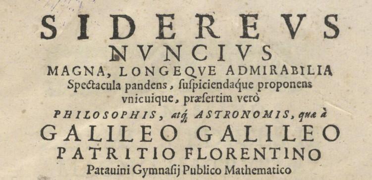 sidereus nuncius essay questions