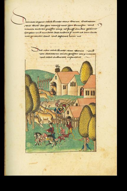 S. 259: Berner Knechte auf einem Viehraubzug in Burgund