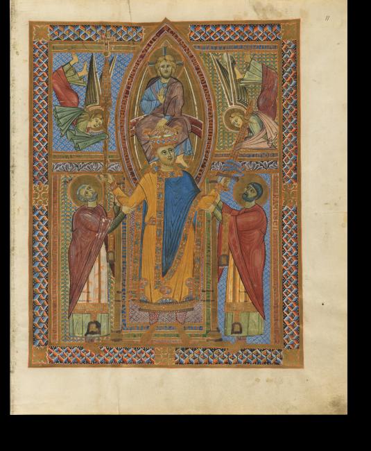 Fol. 11r: Krönungsbild Heinrichs II.