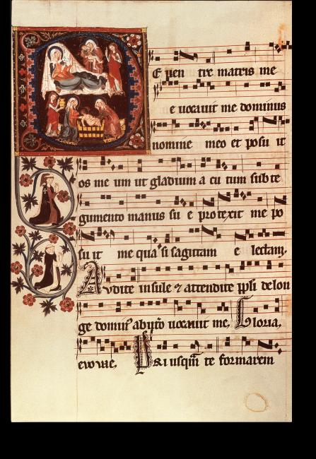 Fol. 178v: Geburt des Johannes Baptist und Baden des Neugeborenen
