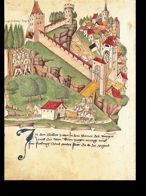 S. 356: Der Kriegszug »im Staub« nach Freiburg im Jahr 1388.