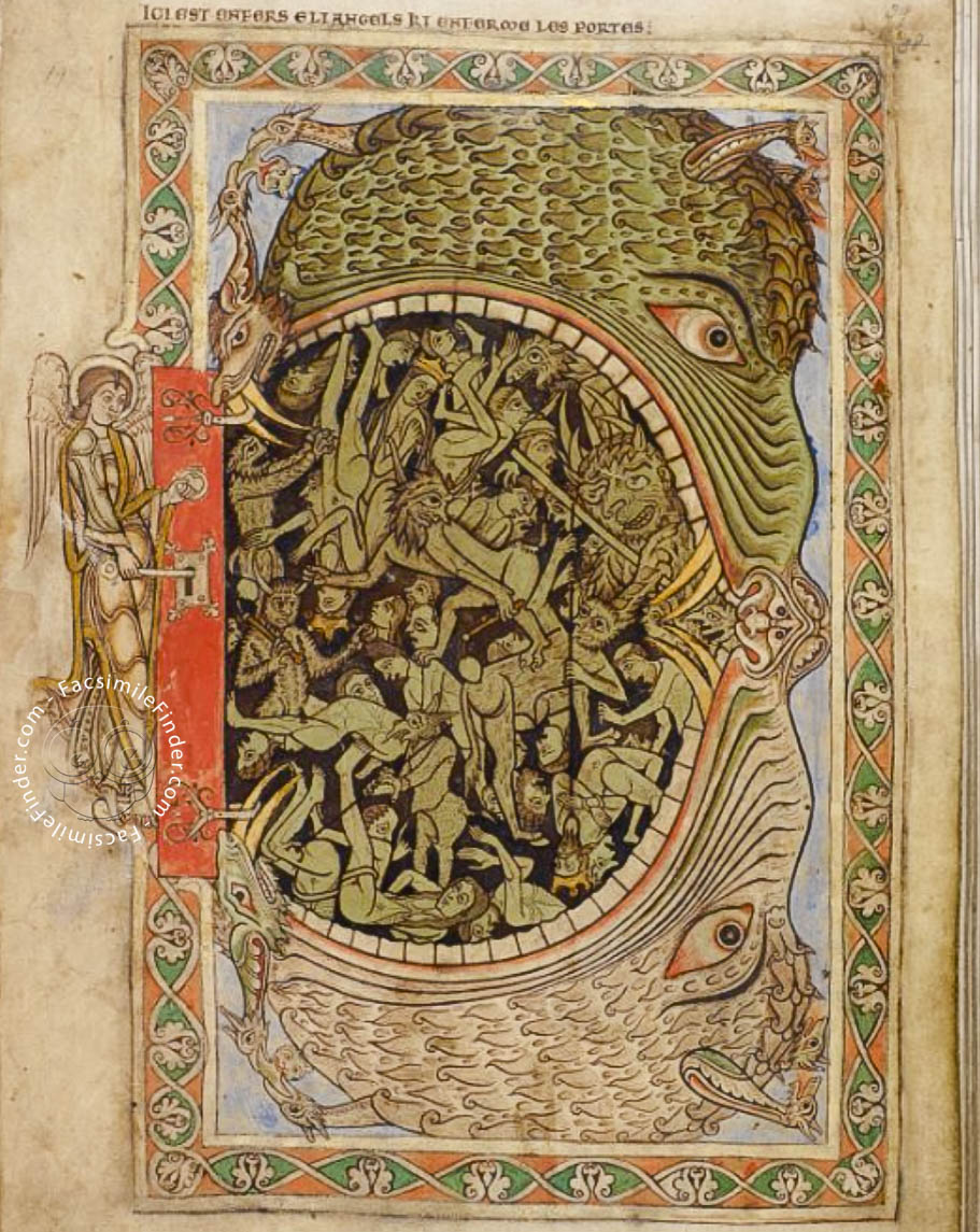 Hell depicted in the Winchester Psalter