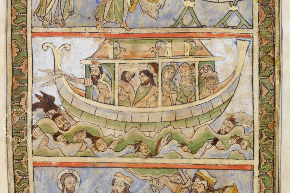 Noah's Ark during the flood