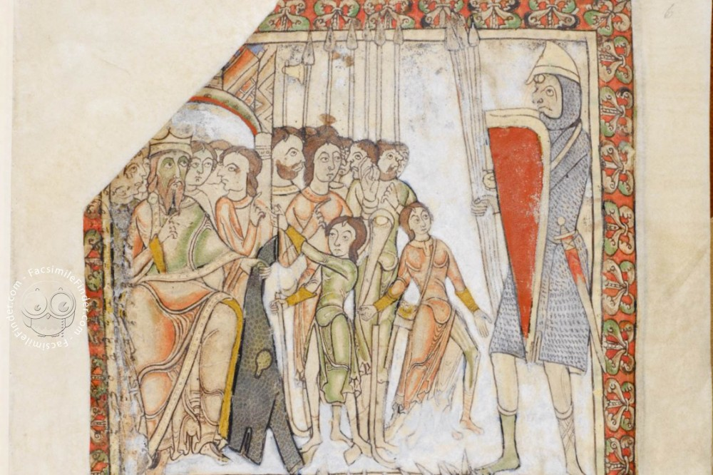Saul and David (fol. 6r)