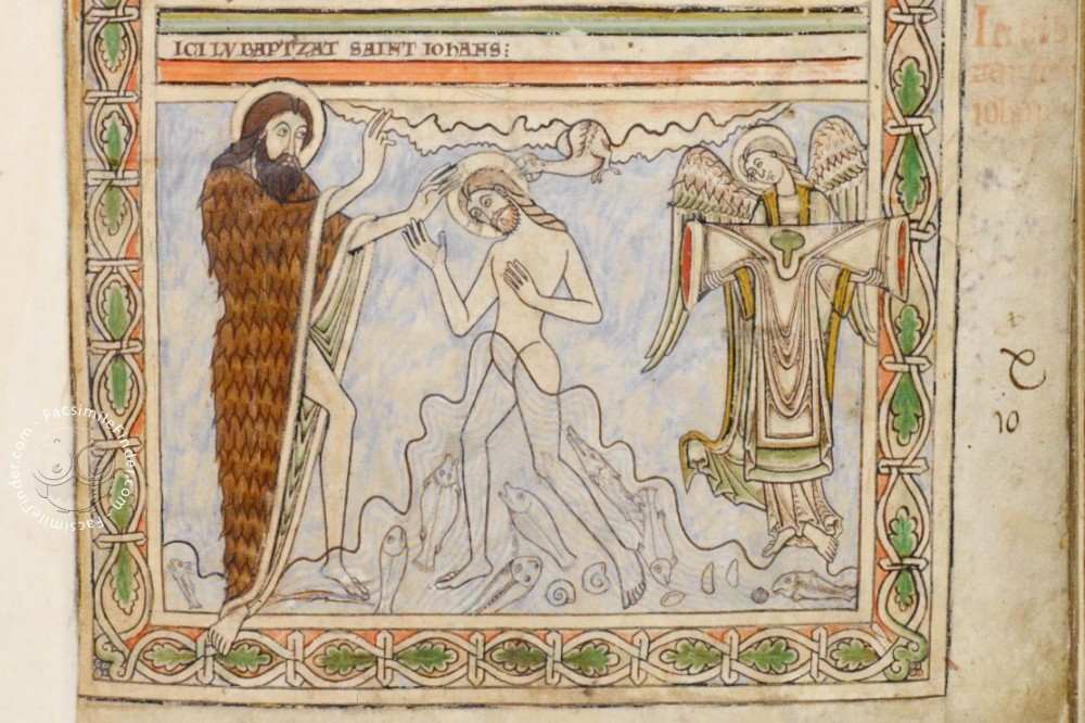 Baptism of Christ (fol. 16r)