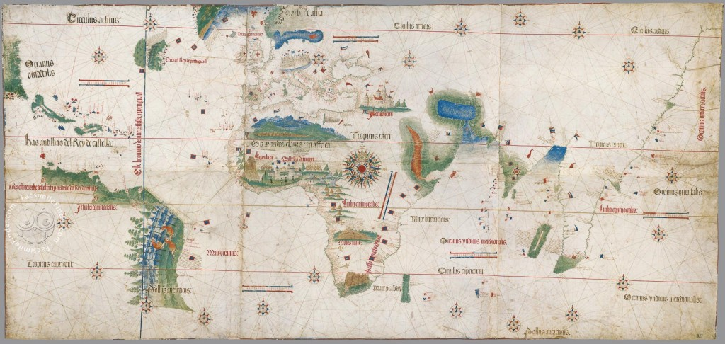 Map facsimile: the Cantino's Map