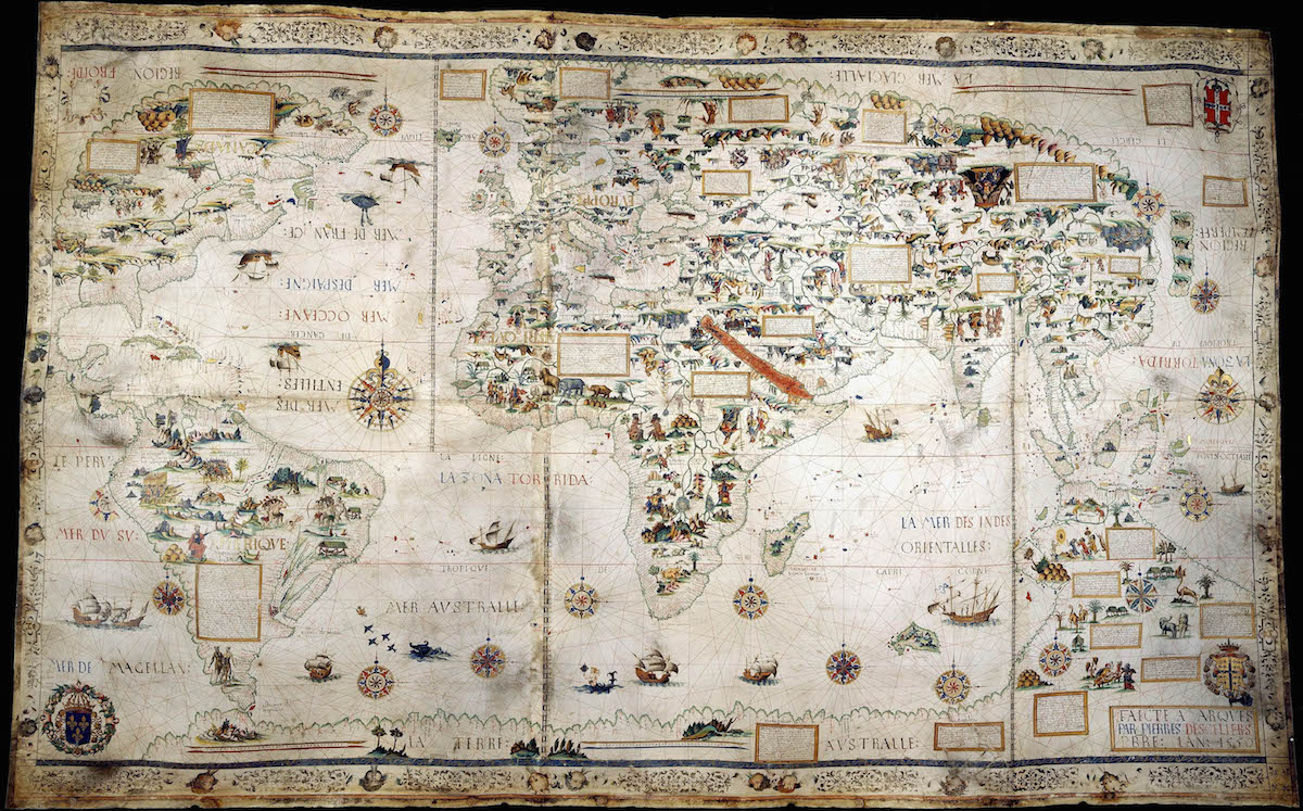 Pierre Desceliers' Map of 1550