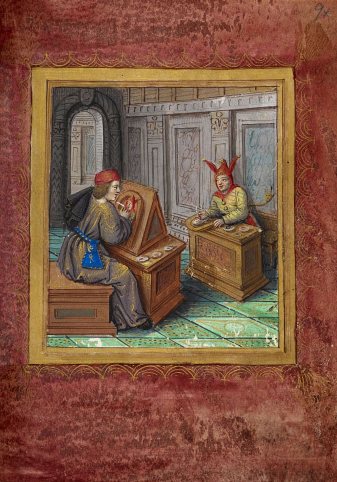 Pierre Sala's Little Book of Love, Stowe MS 955, f.9*r