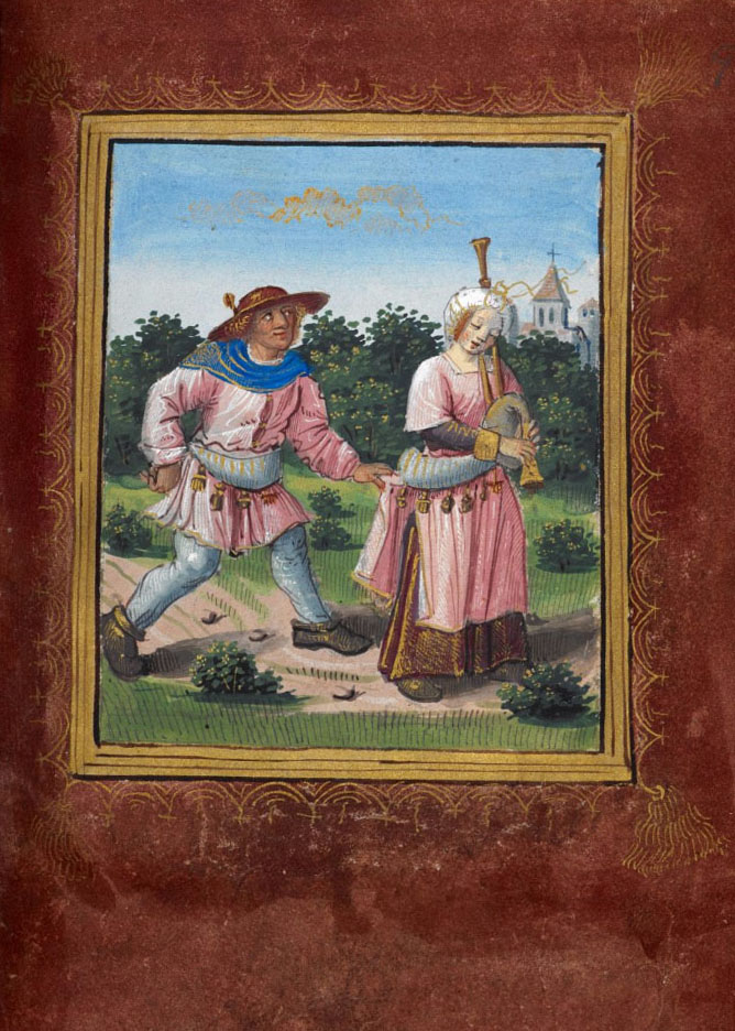 Pierre Sala - Little Book of Love, Stowe MS 955, f.9 r.