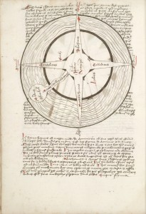 huntington Fig. 1 HM 83 f. 10v prophecy map 1600-1606