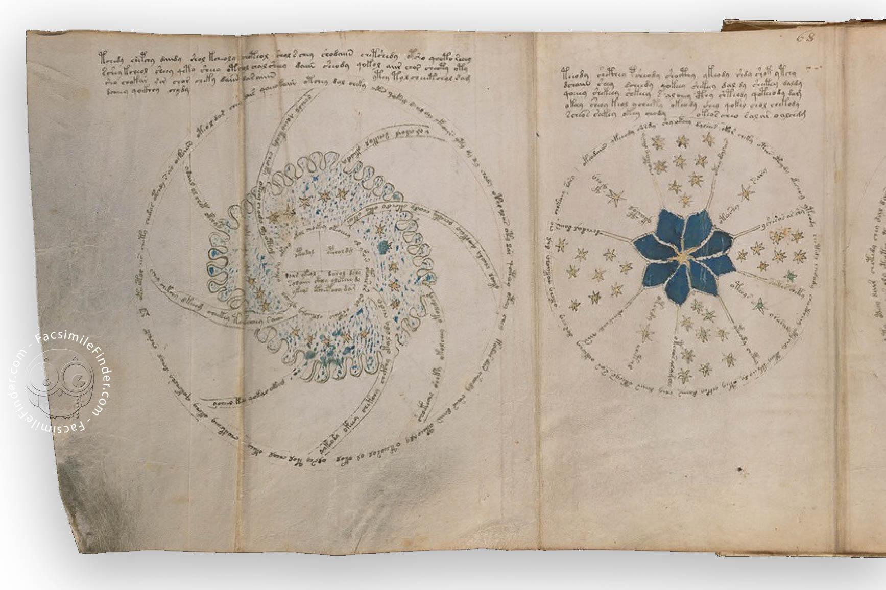 Voynich Manuscript Facsimile: Triple Page Fold Out