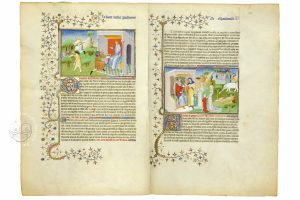 Double page of the Travels of Jean de Mandeville