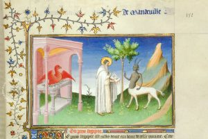 Detail on f. 191r from Travels of Jean de Mandeville