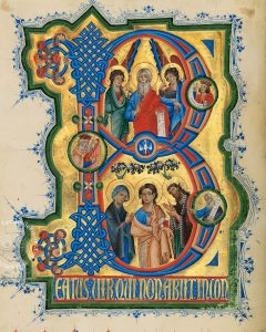 Historiated initial, work of the Master of Giovanni da Gaibana
