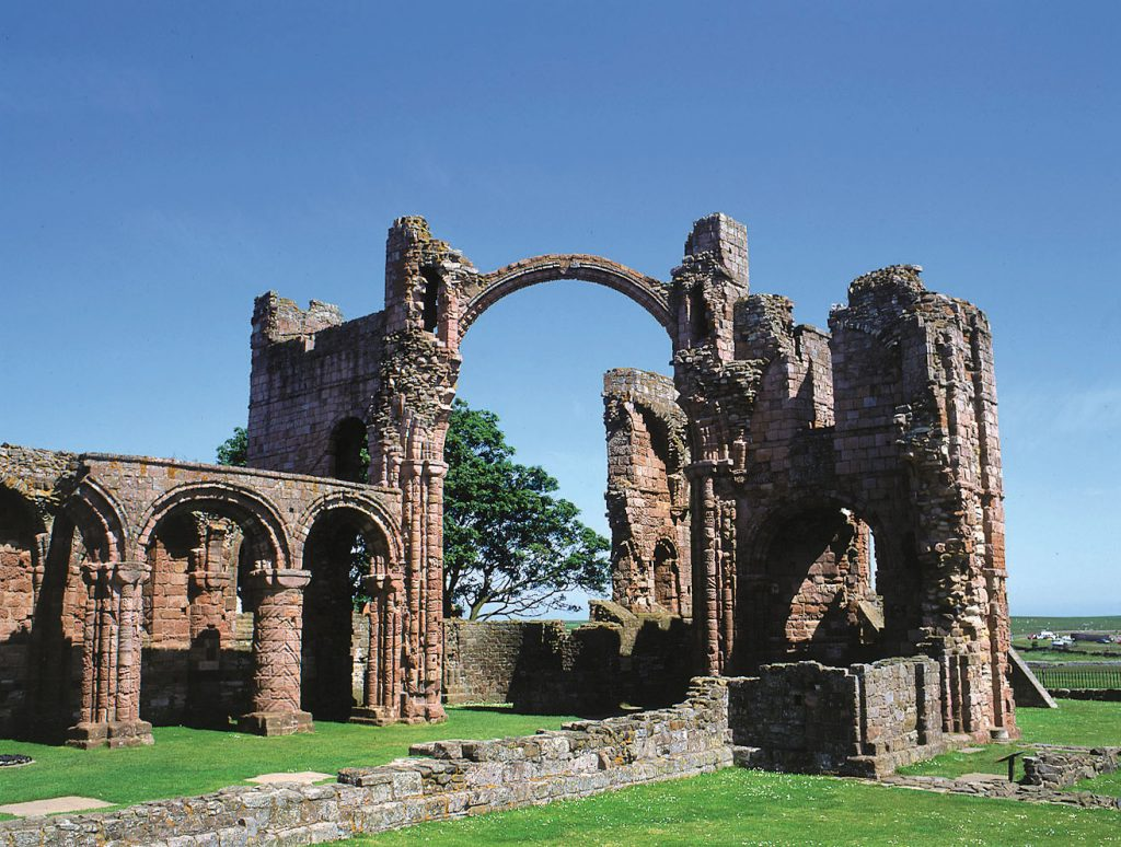 Ruins of the Lindisfarne cloister.