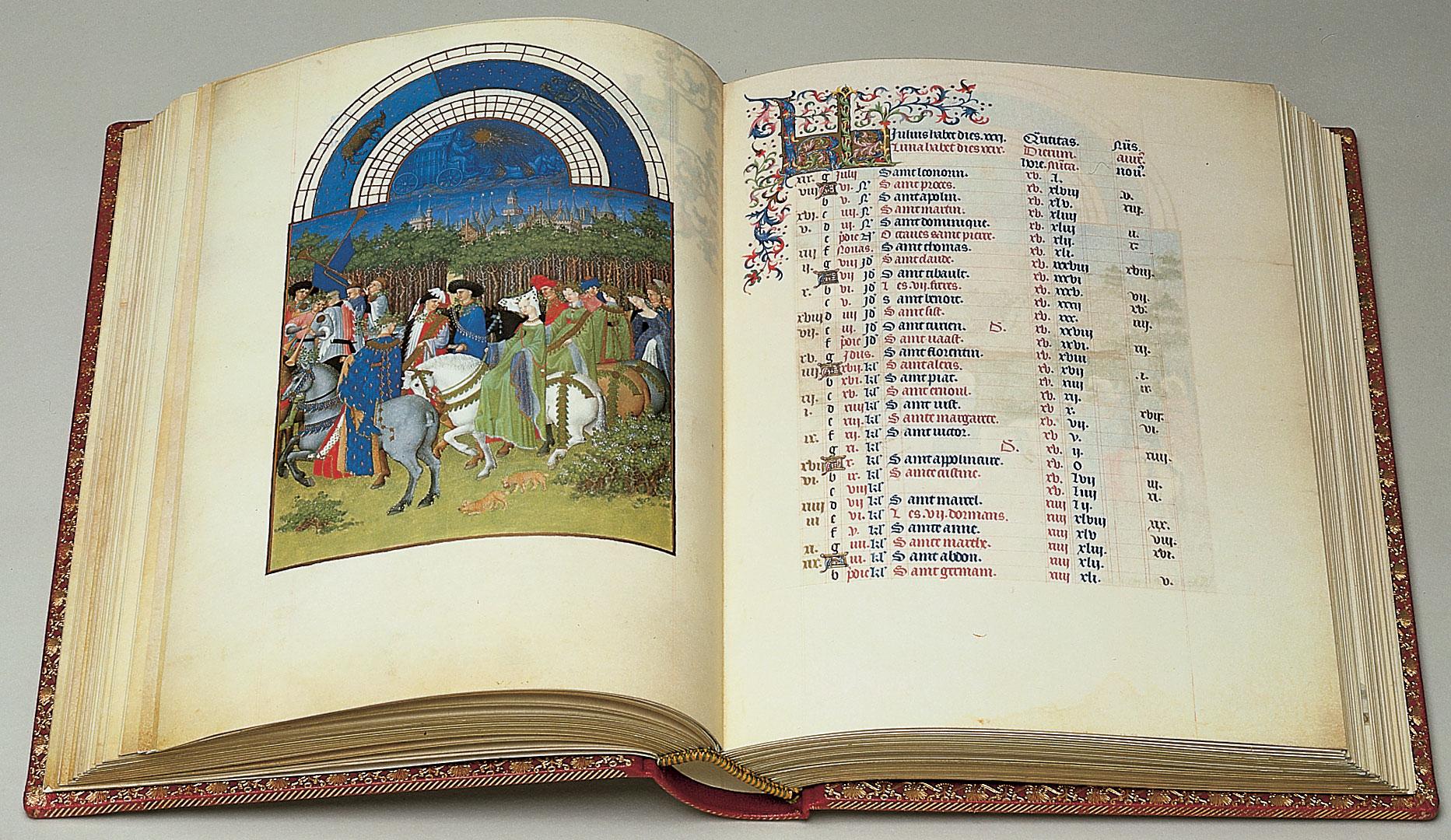 Facsimile Edition Of Les Très Riches Heures.