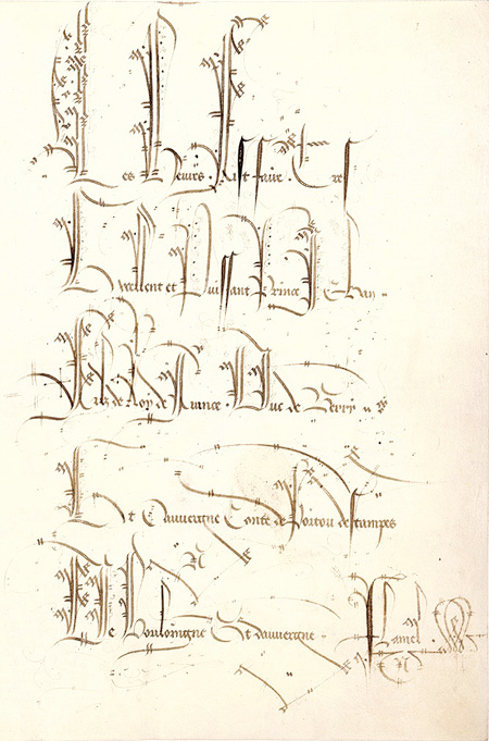 Ex-libris on f. 1r from the Belles Heures of Jean de Berry