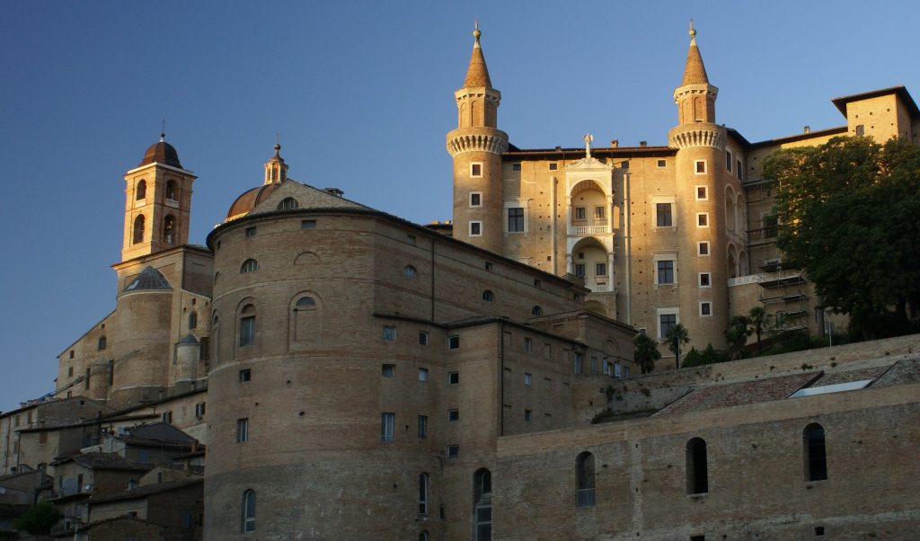 View of the Palazzo Ducale in Urbino