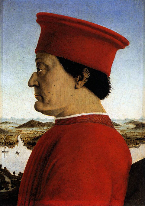 Profile portrait of Federico da Montefeltro