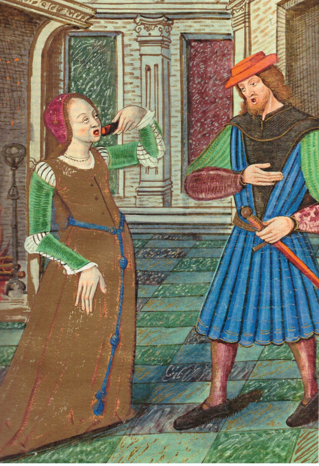 Detail of a miniature from the Canzoniere