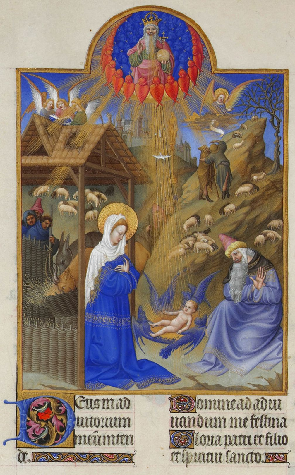 F. 44 of the Très Riches Heures of the Duke of Berry - happy holidays