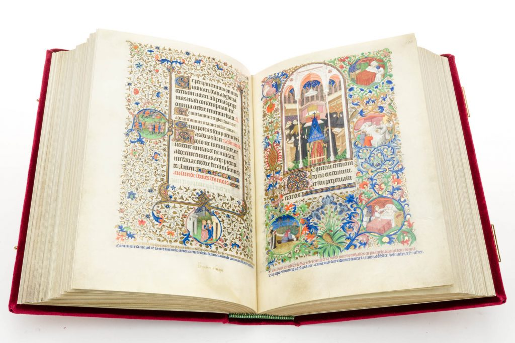 Double-page opening of the Bedford Hours