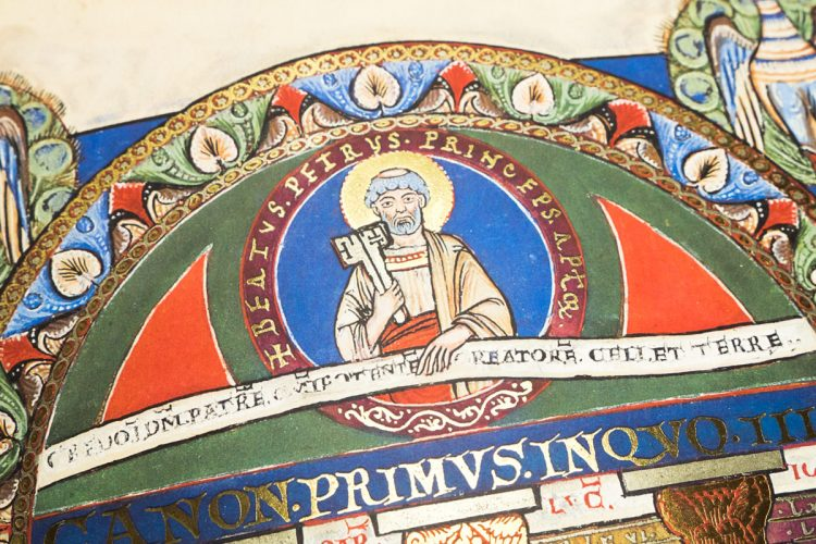 Detail of the Gospels of Henry the Lion
