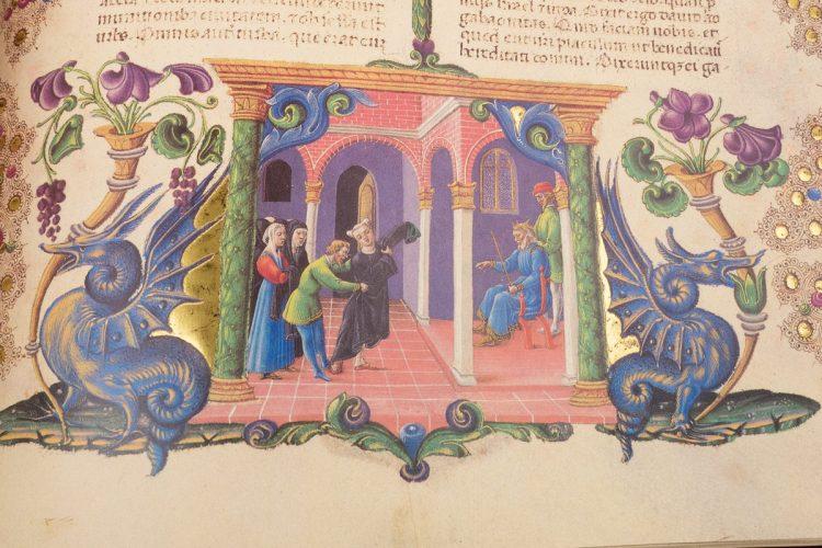 Detail of the Bible of Borso d'Este