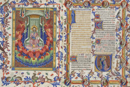 Detail of the Breviary of Martin of Aragon