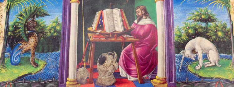 Detail of the Bible of Borso d'Este