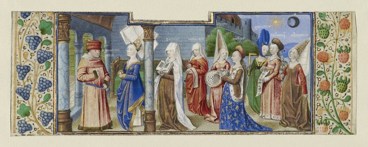 Philosophy Presenting the Seven Liberal Arts to Boethius, Coëtivy Master, about 1460–1470
