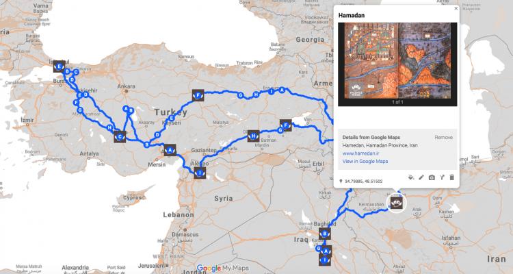Map of Sultan Suleiman's Iraqi Campaign