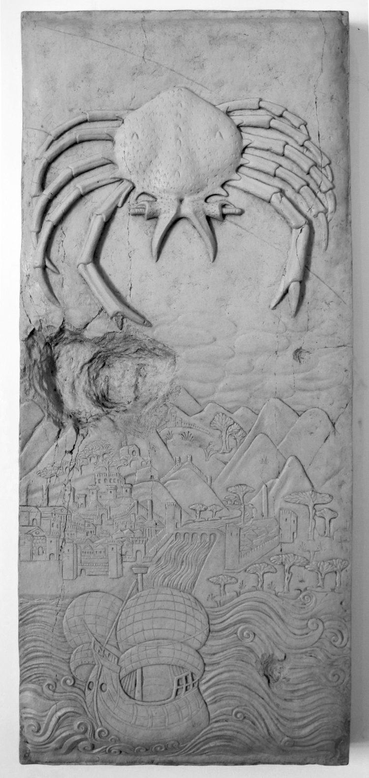 Bas-relief by Agostino di Duccio, Tempio Malatestiano, Rimini, ca. 1455
