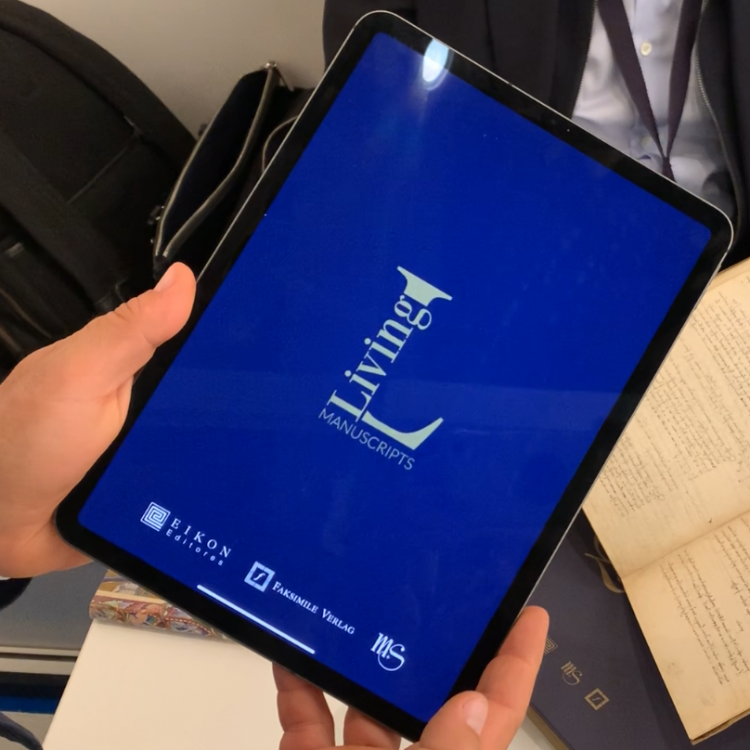 Living Manuscripts, an augmented reality app by Mueller and Schindler