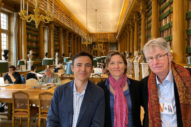 Eberhard König, Charlotte Kramer and I in the Mazarin Library
