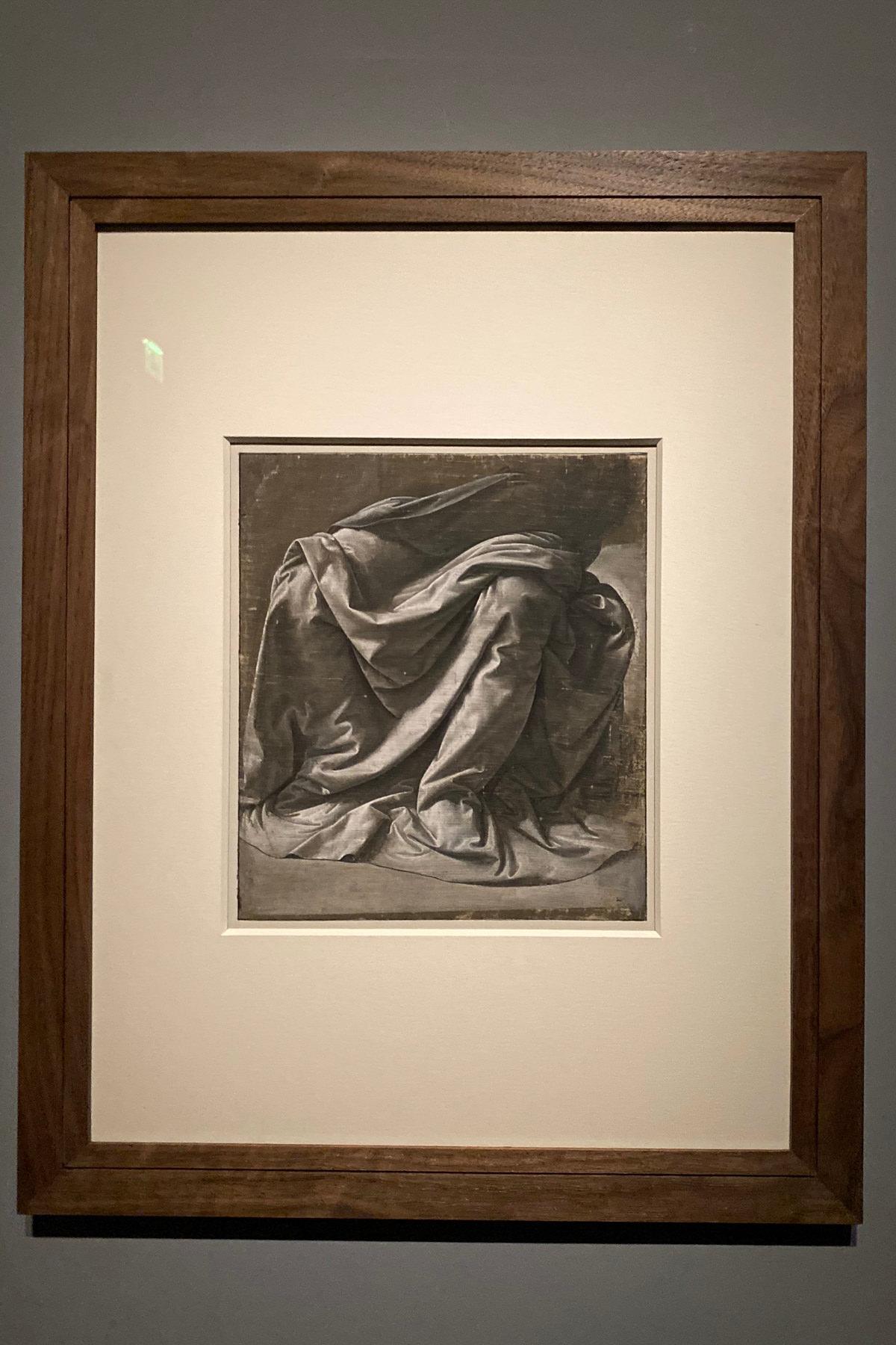 Leonardo da Vinci Exhibition in the Louvre Museum: Draperie Jabach I