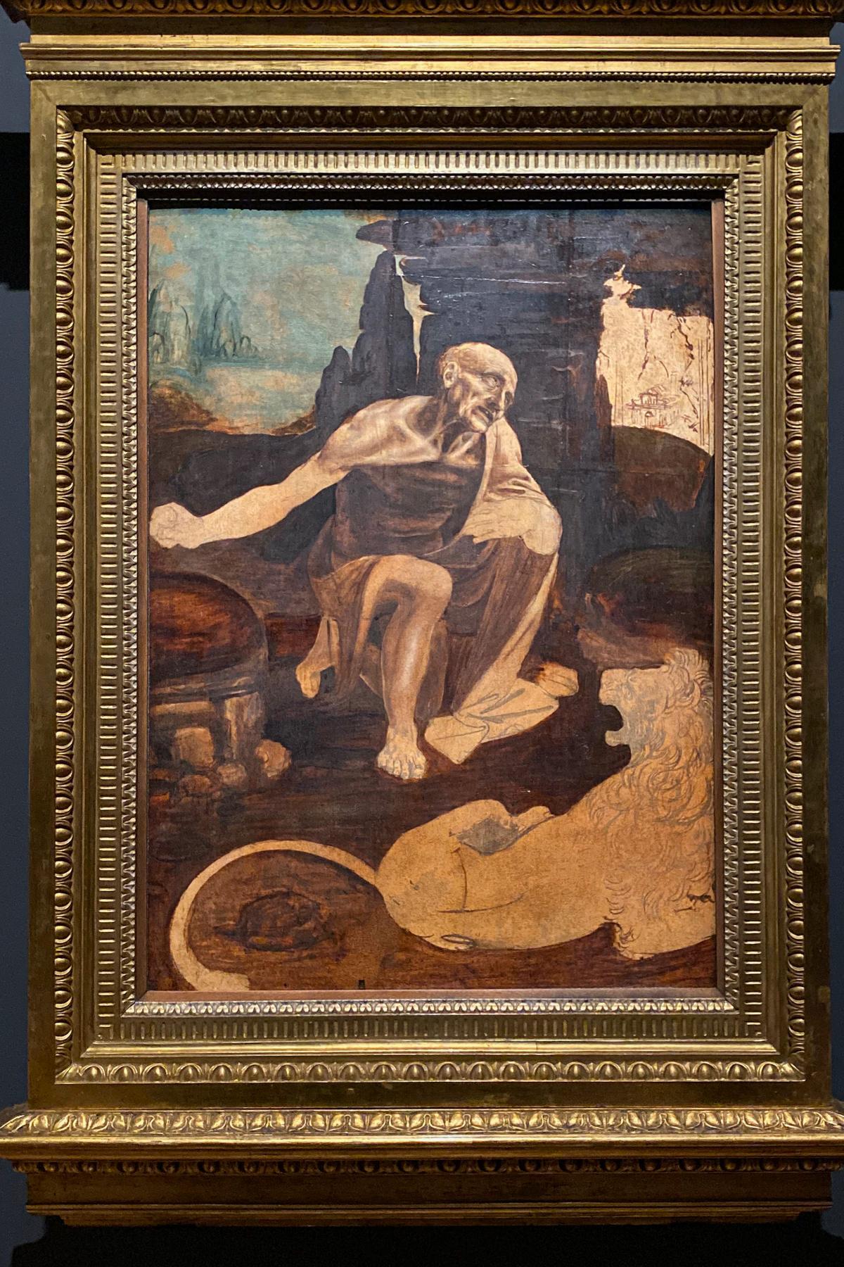 Leonardo da Vinci Exhibition in the Louvre Museum: Saint Jerome in the Wilderness