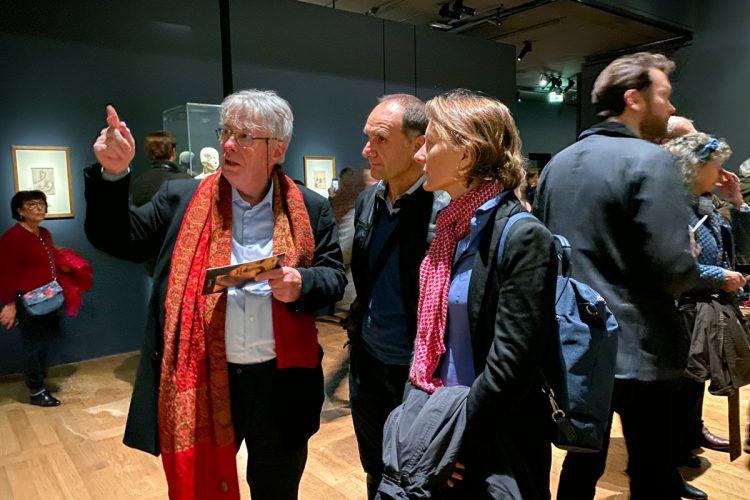 Eberhard König, Giacomo Cecchetti and Charlotte Kramer at the Leonardo da Vinci Exhibition in the Louvre Museum