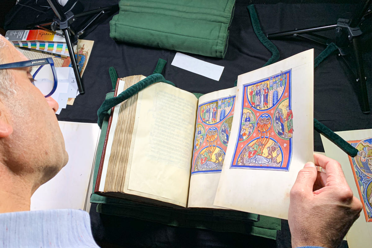 Colorproofing the Psalter of Blanche of Castile