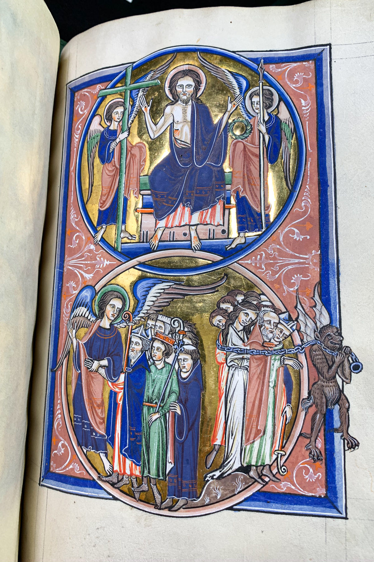 Detail of the  Psalter of Blanche of Castile